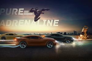 Black Panther Chevrolet Camaro Racing Wallpaper