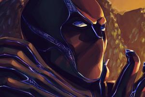 Black Panther Closeup Art Wallpaper