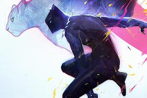 Black Panther Comic Art 4k Wallpaper
