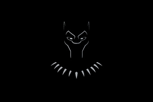 Black Panther Dark Minimal 5k
