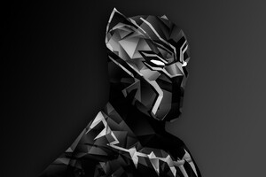 Black Panther Digital Art Wallpaper