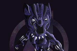 Black Panther Doodle Art