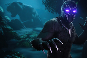 Black Panther Fortnite Wallpaper