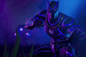 Black Panther Fortnite Game Wallpaper