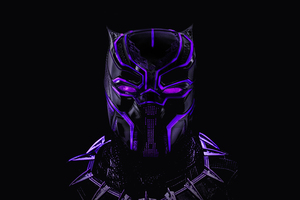Black Panther Glowing Artwork