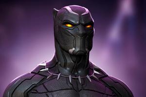 Black Panther Glowing Eyes 4k