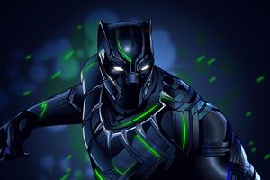 Black Panther Illustration 8k Wallpaper