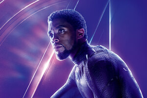 Black Panther In Avengers Infinity War 8k Poster