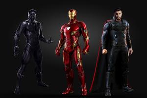 Black Panther Iron Man Thor 4k