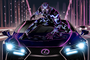 Black Panther Lexus Artwork Wallpaper