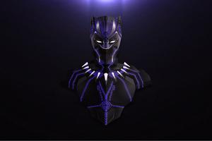 Black Panther Lowpoly Minimalism