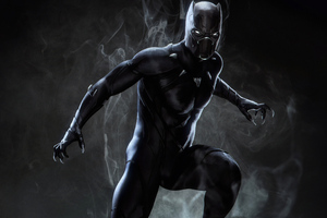 Black Panther Marvel Superhero Wallpaper