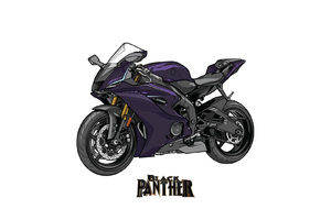 Black Panther Marvel Yamaha R6 Crossover