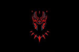 Black Panther Minimal Dark 5k Wallpaper