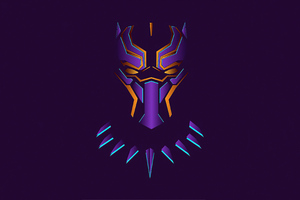 Black Panther Minimal Illustration 4k