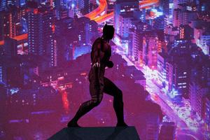 Black Panther Minimal Poster Art