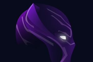 Black Panther Neon Face Art