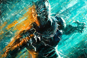 Black Panther Paint Art