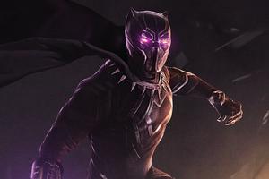 Black Panther Purple Eyes Wallpaper