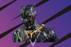 Black Panther T Chakka Lowpoly Art