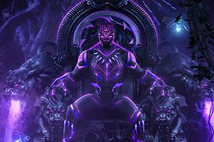 Black Panther Throne 2020 Wallpaper