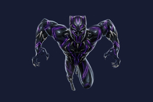 Black Panther Vibranium Suit Wallpaper