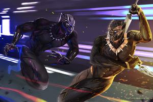 Black Panther Vs Golden Jaguar