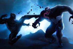 Black Panther Vs Venom 4k Wallpaper