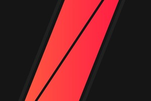 Black Red Minimalism Wallpaper