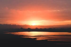 Black Sand Clouds Evening Ocean 5k