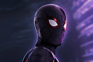 Black Spider Man 2020 4k Wallpaper