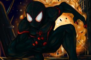 Black Spiderman 4k Art