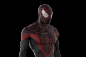 Black Spiderman 4k Artwork