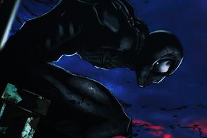 Black Suit Spiderman I Am Not Your Savior 2020