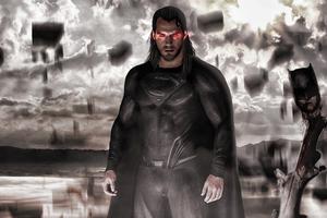 Black Superman In Parallel Universe 5k Wallpaper