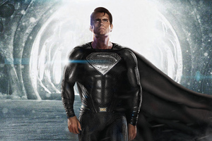 Black Superman Suit 2020 Wallpaper