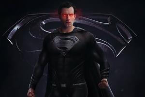 Black Superman Suit 4k Wallpaper