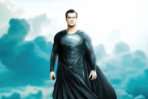 Black Superman Suit Henry Cavill Wallpaper