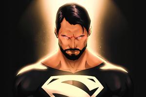 Black Superman Suit Wallpaper
