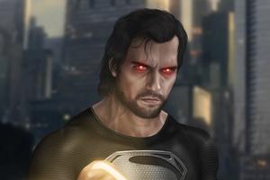 Black Superman4k Wallpaper