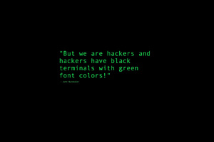 Black Terminals With Green Font Colors Quote Wallpaper