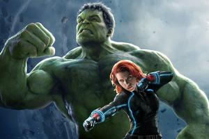 Black Wdiow And Hulk 5k