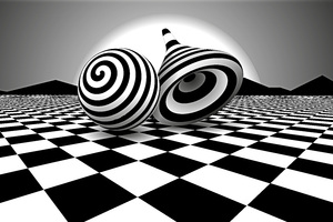 Black White Optical Illusion Wallpaper