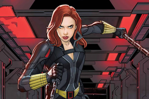 Black Widow 2020 Comic Poster Wallpaper