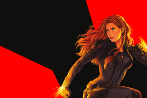 Black Widow 2020 Sketch Art Wallpaper