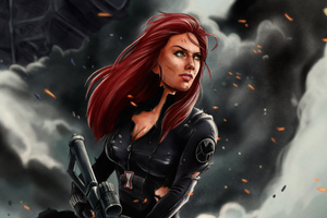 Black Widow 4k Art Wallpaper