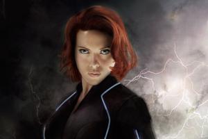 Black Widow 5K Art Wallpaper