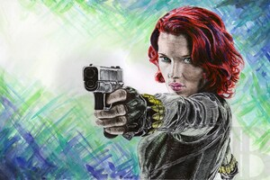 Black Widow 5k Artwork