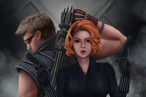 Black Widow And Hawkeye Wallpaper