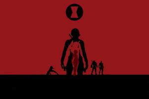 Black Widow Avengers Endgame 4k Minimalism Wallpaper